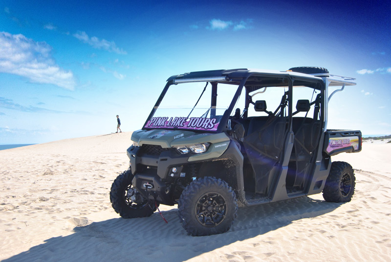 Tour Buggy on Sand dunes at the Pink Lake